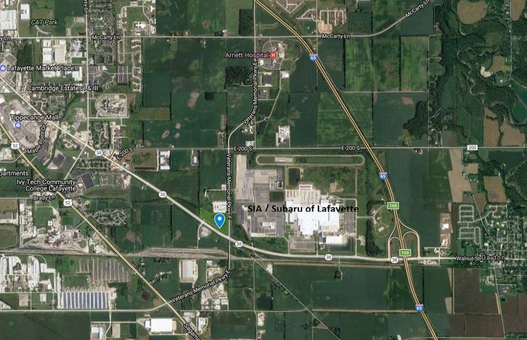 20 Acres GB Land for Sale Next to SIA Lafayette Indiana land for sale IU Arnett Hospital SIA GE Aviation