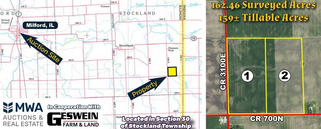 160 Acre Illinois Farm Auction Iroquois County Mwa Murray Wise